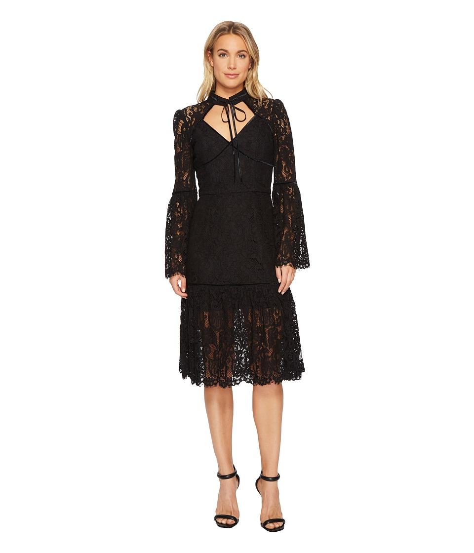 Adelyn Rae - Gina Midi Dress (Black) Womens Dress