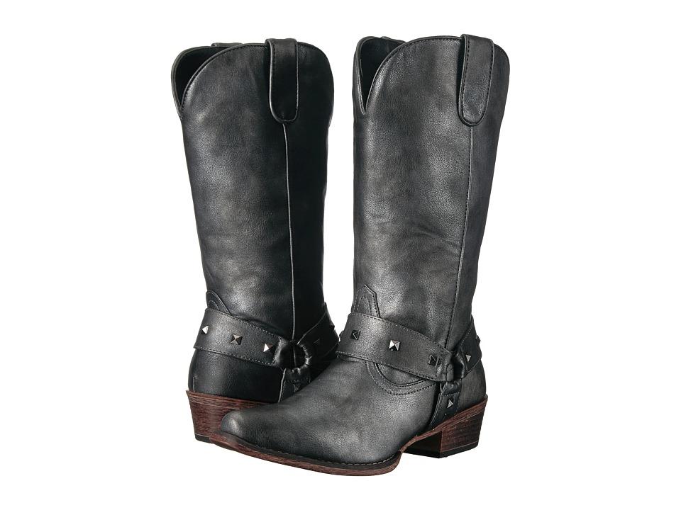 Roper Nina (Black Metallic) Cowboy Boots