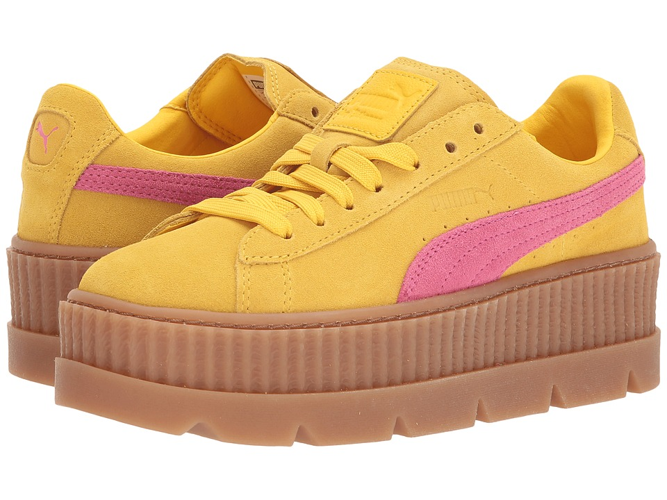 PUMA Cleated Creeper Suede (Lemon/Carmine Rose/Vanilla) Women