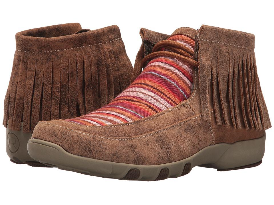 Roper Santa Fe (Tan Canvas w/ Woven Serape Fabric) Slip-On Shoes