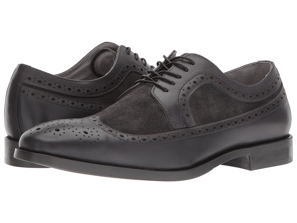 Kenneth Cole New York - Ticket Oxford (Grey) Mens Lace Up Wing Tip Shoes