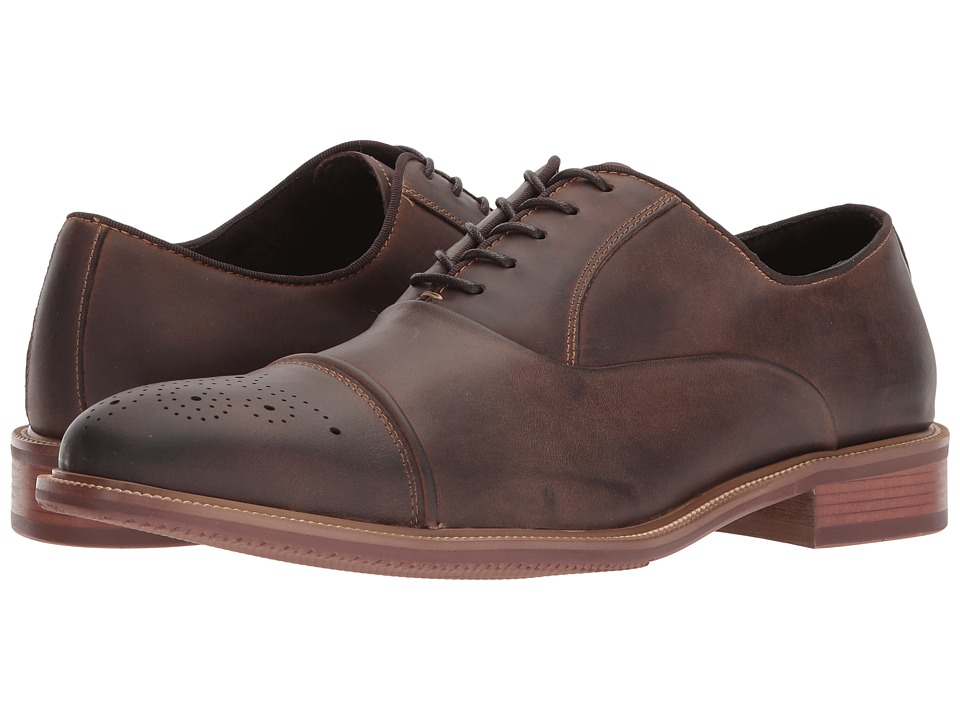 Kenneth Cole New York - Stoan Oxford (Brown) Mens Lace Up Wing Tip Shoes