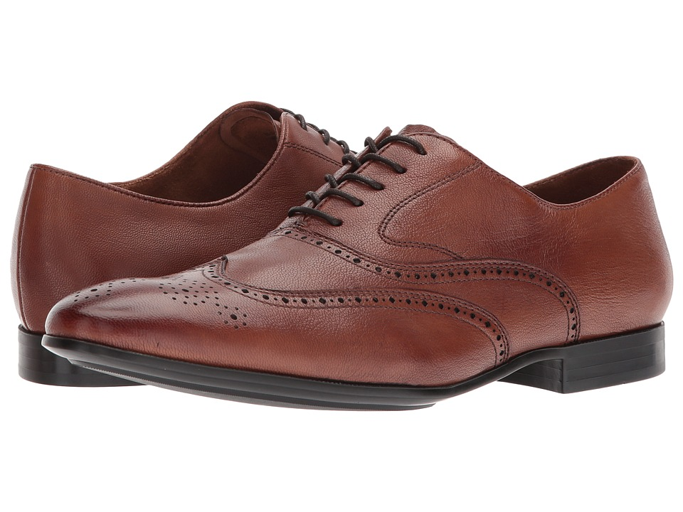 Kenneth Cole New York - Mix Oxford B (Cognac) Mens Lace Up Wing Tip Shoes
