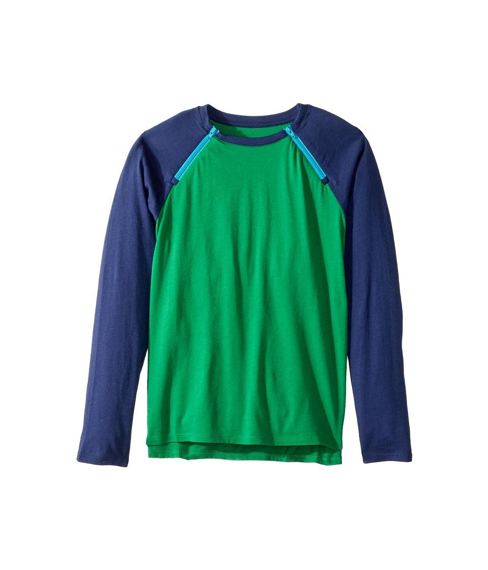Care+Wear - Chest Access Tee Shirt (Little Kids/Big Kids) (Jungle Green/Navy Blue) T Shirt