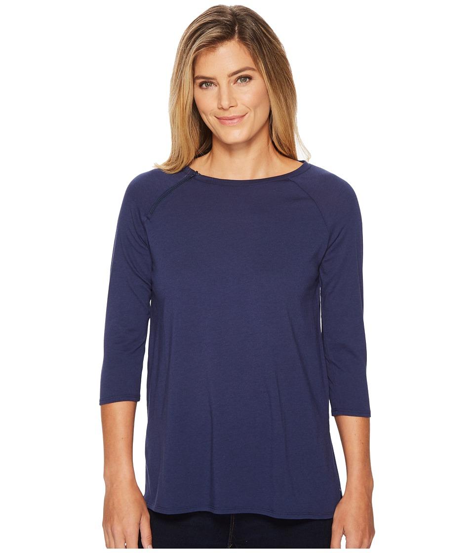 Care+Wear - Chest Access Shirt (Navy Blue) Womens T Shirt