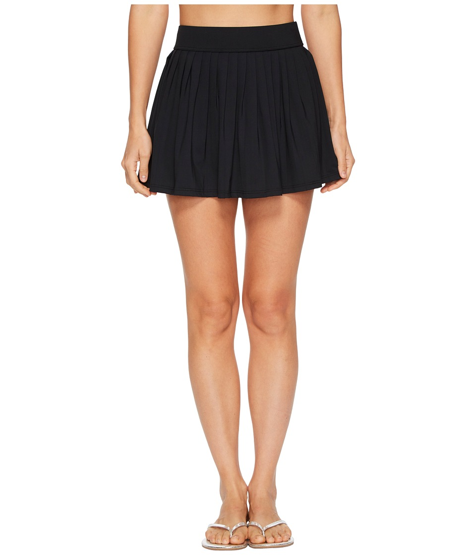 Kate Spade New York Solids #80 Pleated Skirt Cover-Up (Black) Women