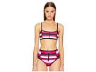 Proenza Schouler Striped Two-Piece Bikini Set w/ Sporty Top High-Waist Bottom