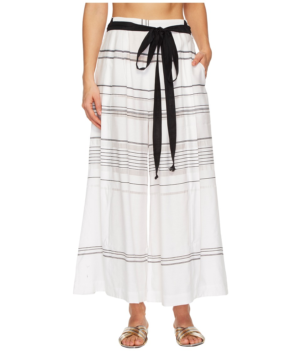 Proenza Schouler Striped Thin Palazzo Pants Cover-Up P50920-005