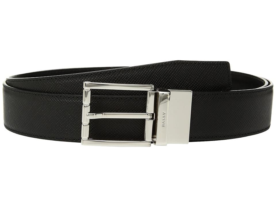 Image of Bally - Astor Reversible Dress Belt (Black/Black) Men's Belts