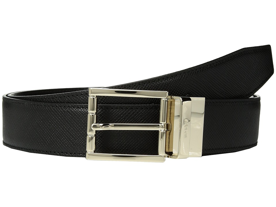 Image of Bally - Astor Reversible Dress Belt (Black/Black 1) Men's Belts