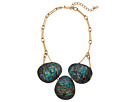 Robert Lee Morris Abalone and Gold Frontal Necklace