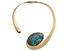 Robert Lee Morris Abalone and Gold Collar Necklace