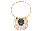 Robert Lee Morris Abalone and Gold Round Wire Necklace