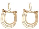 Robert Lee Morris Gold Gypsy Hoop Earrings