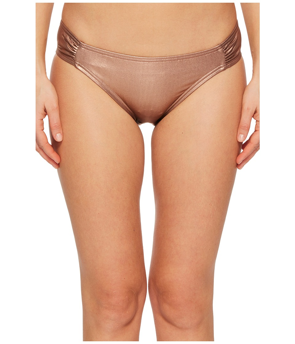 Kate Spade New York Stinson Beach #71 Side Shirred Bikini Bottom (Rose Gold) Women