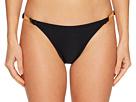 Kate Spade New York Crescent Bay #74 Shirred Bikini Bottom w/ Bow Hardware