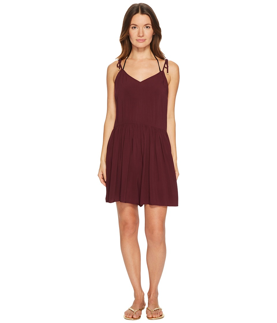 Kate Spade New York - Isla Vista #74 Flare Romper Cover-Up (Deep Cherry) Women's Swimsuits One Piece