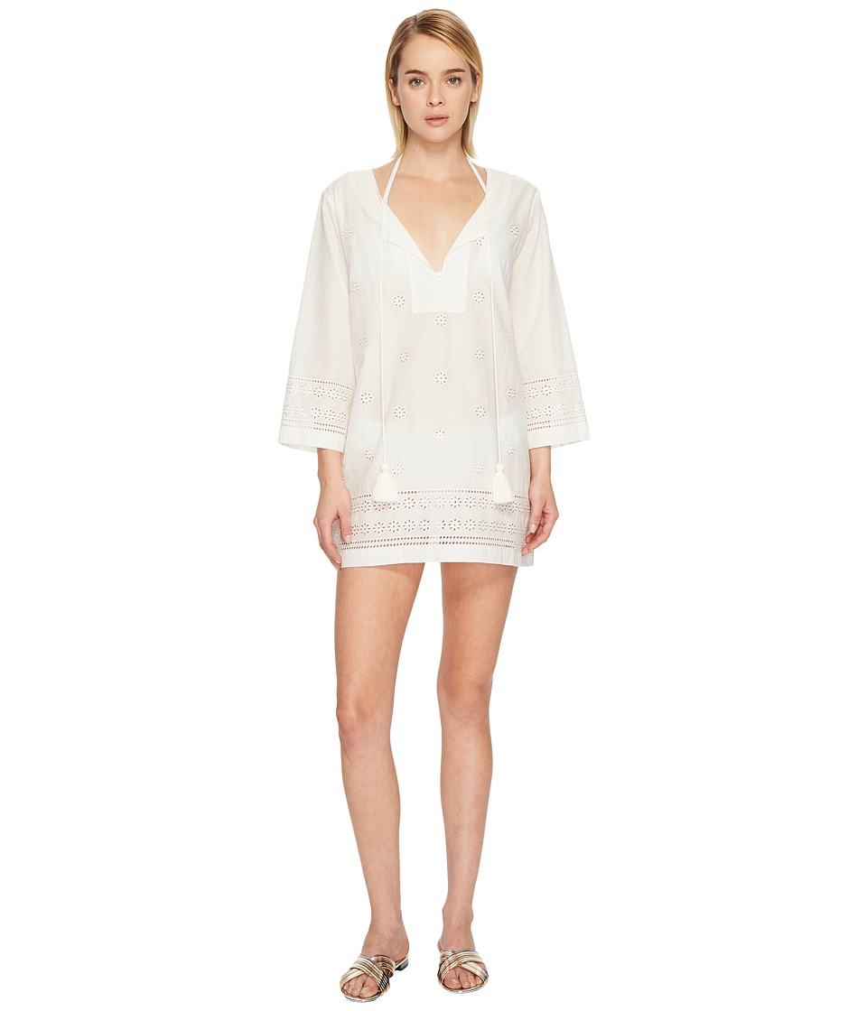 Kate Spade New York Isla Vista #74 Embroidered Tunic Cover-Up (Cream)