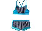 Speedo Kids Heather Splice Boyshorts Two-Piece Swimsuit Set (Big Kids)