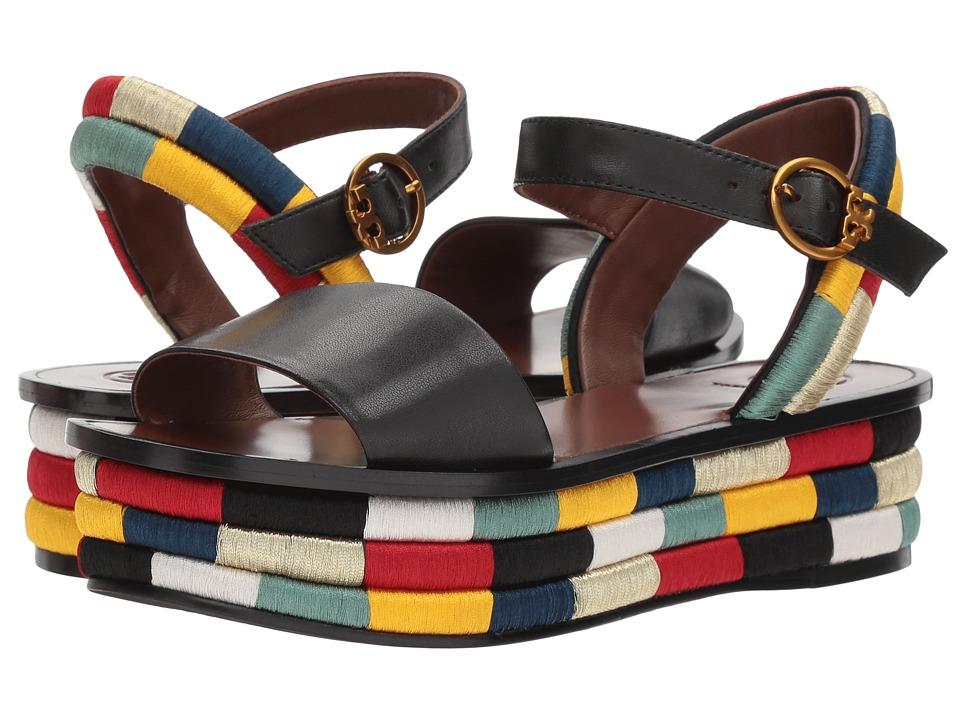 Tory Burch - Camilla 40mm Platform Sandal (Black) Women's Sandals