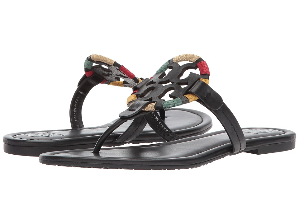 Tory Burch Miller Flip Flop Sandal (Black/Multi) Women's Shoes
