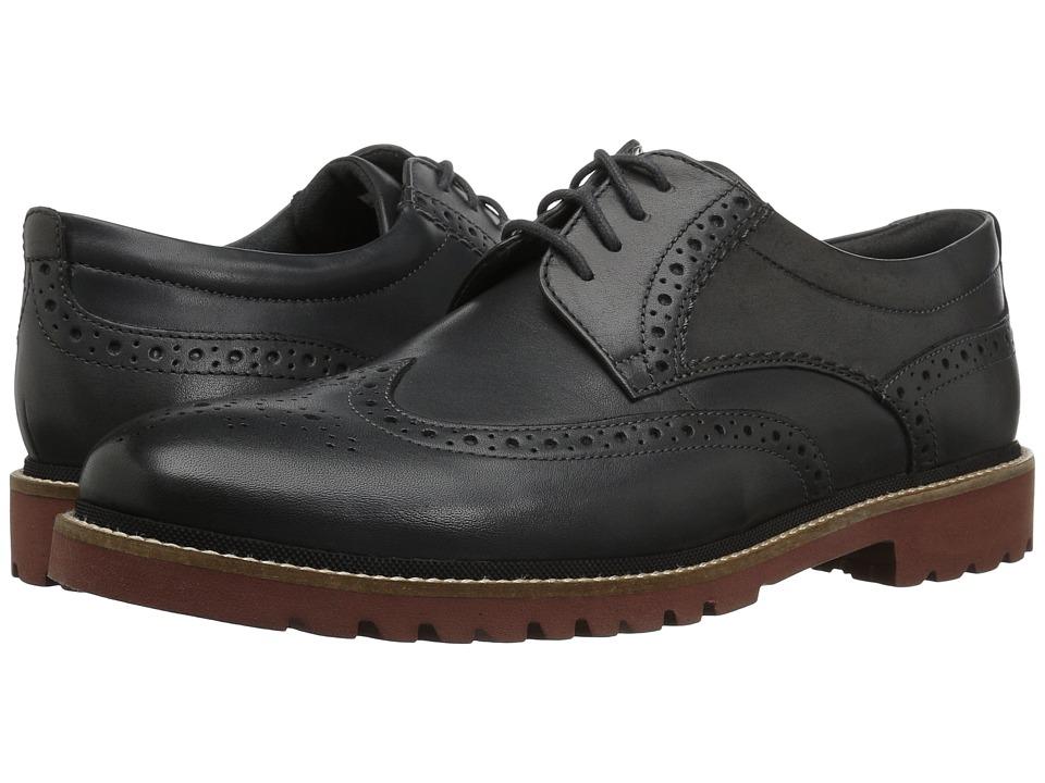 Rockport Marshall Wingtip (Grey Leather) Men