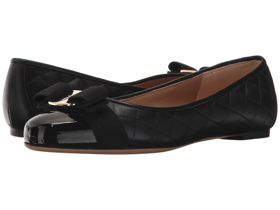 Salvatore Ferragamo Varinaq (Nero/Nero/Nappa Nero) Women's Dress Flat Shoes