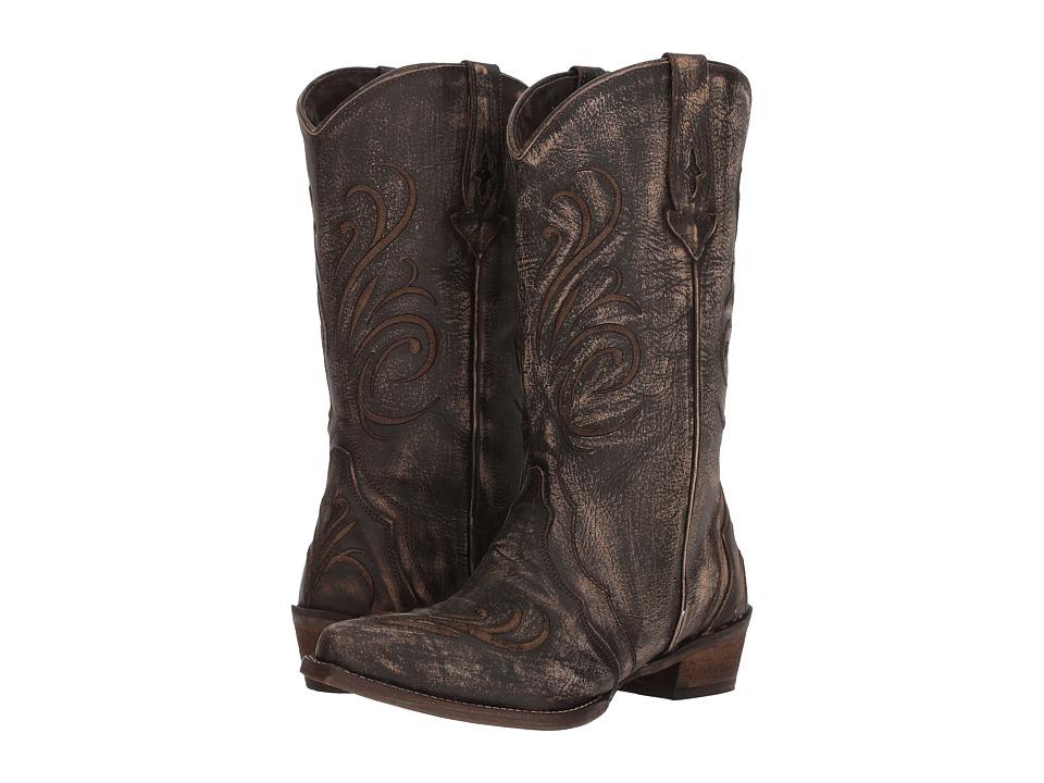 Roper Olivia (Brown Sanded Leather Vamp) Cowboy Boots