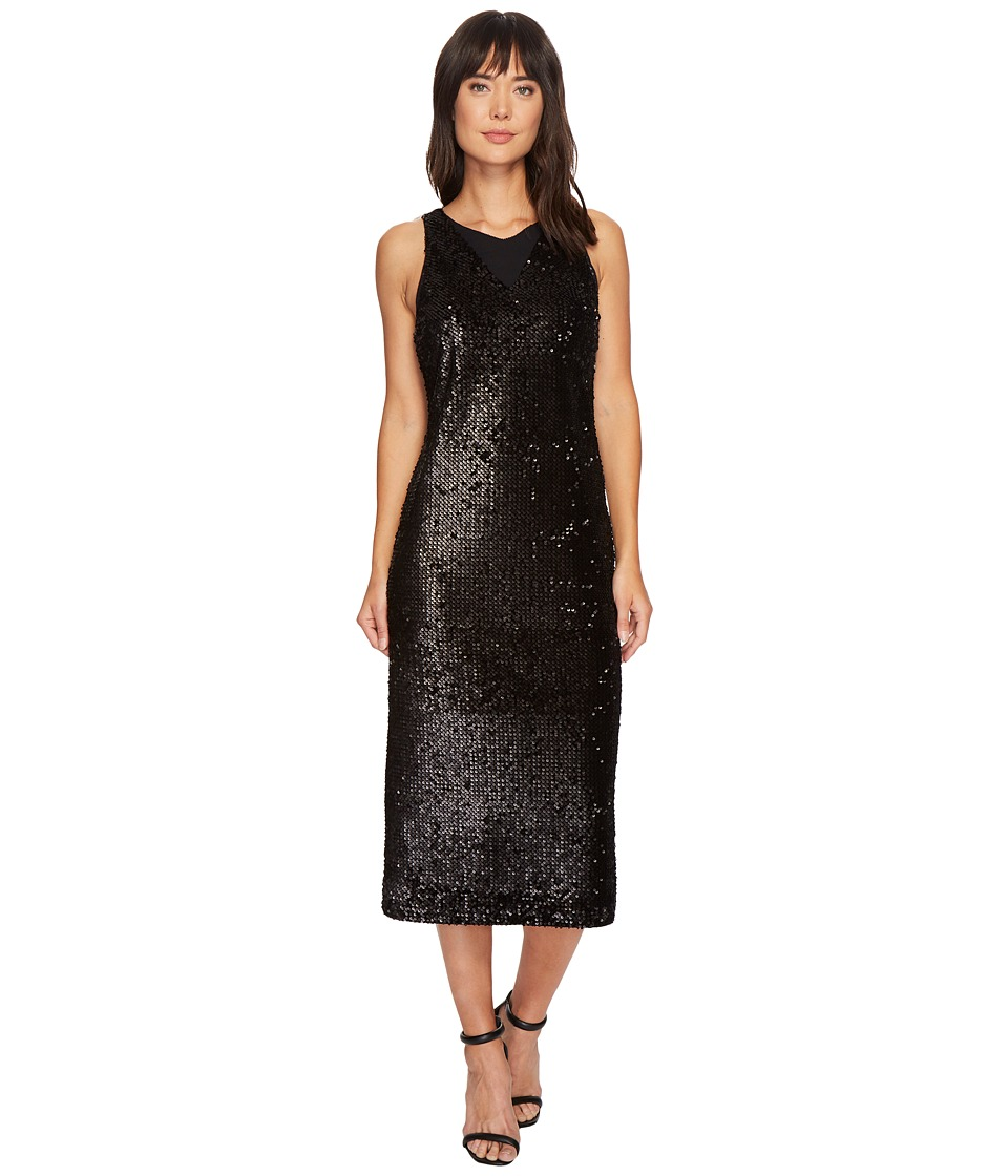 NIC+ZOE Nights Shimmer Dress (Black Onyx) Women