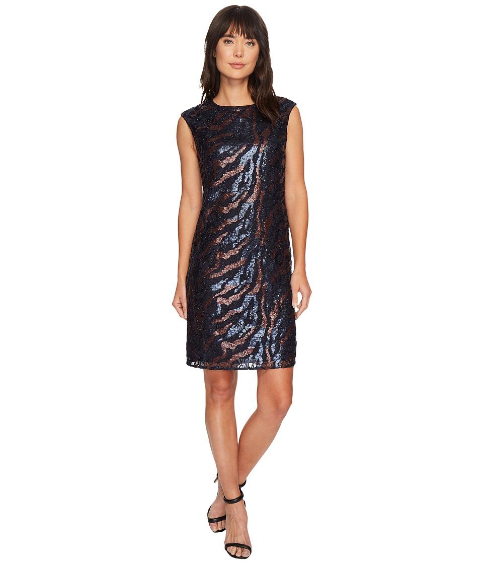 NIC+ZOE Lace Sequin Shift Dress (Multi) Women