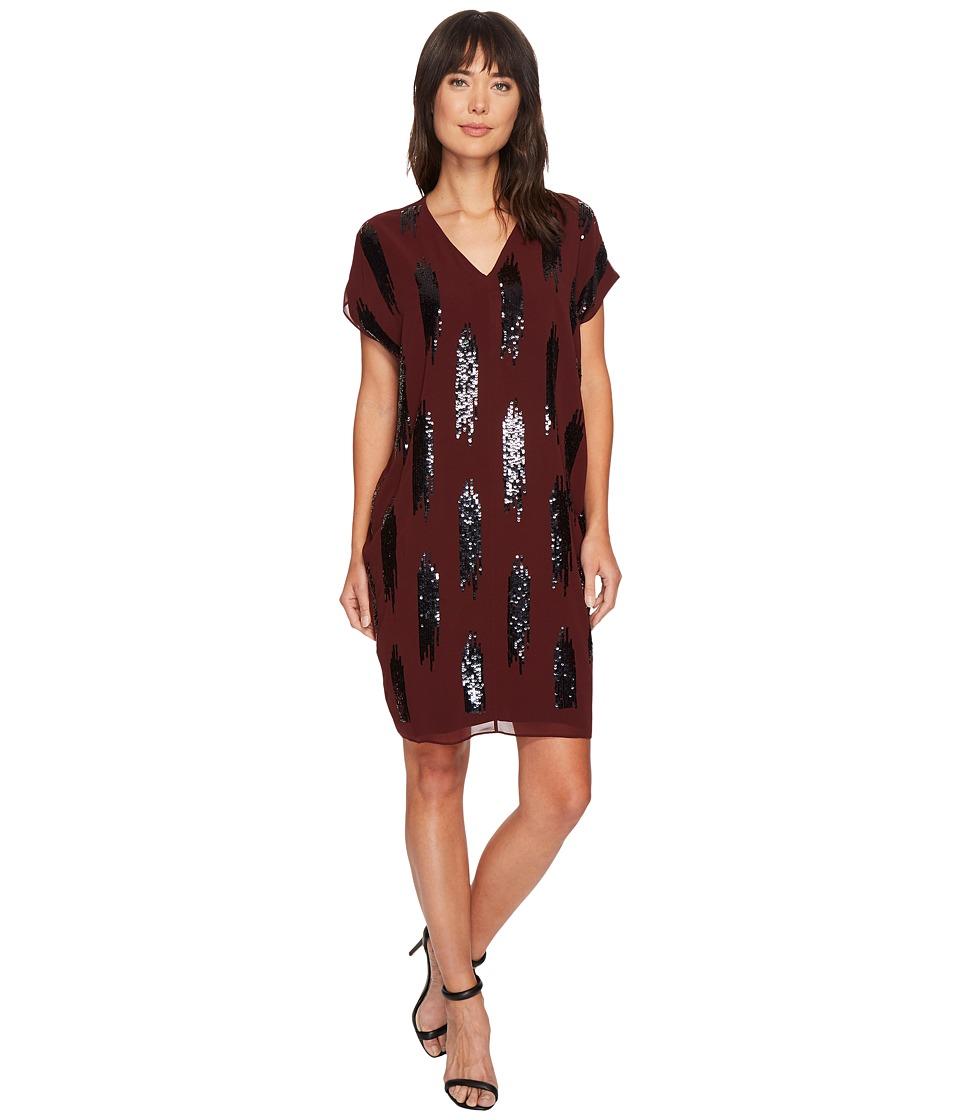 NIC+ZOE Shimmer Dress (Cognac) Women
