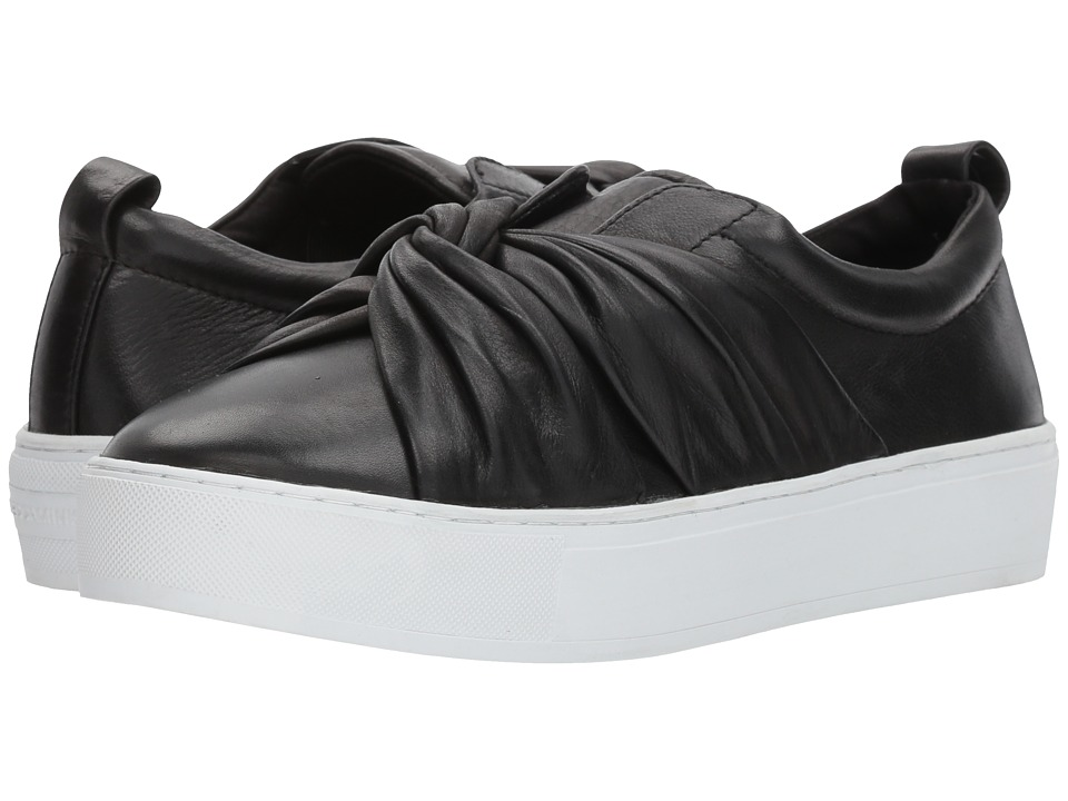 Rebecca Minkoff - Nicole Sneaker (Black Lamba) Womens Flat Shoes