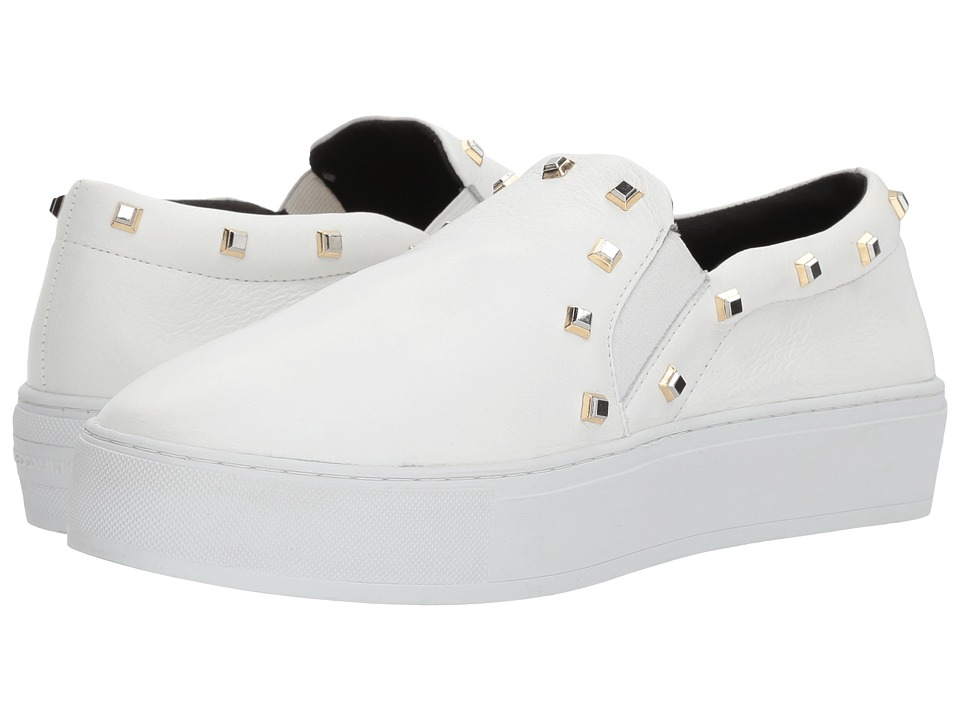 Rebecca Minkoff - Nora Stud (Optic White Deluxe) Womens Flat Shoes