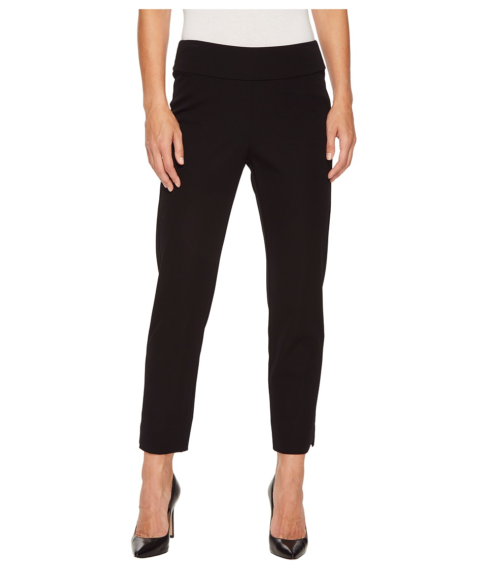 Krazy Larry - Bi-Stretch Pull-On Ankle Pants (Black) Womens Clothing