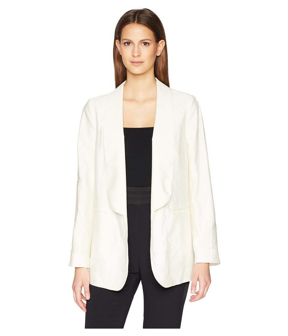 Sonia Rykiel Silk Cold Shoulder Blazer (Cream) Women's Ja...