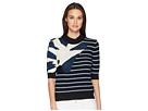 Sonia Rykiel Bouclette Stripes Short Sleeve Sweater