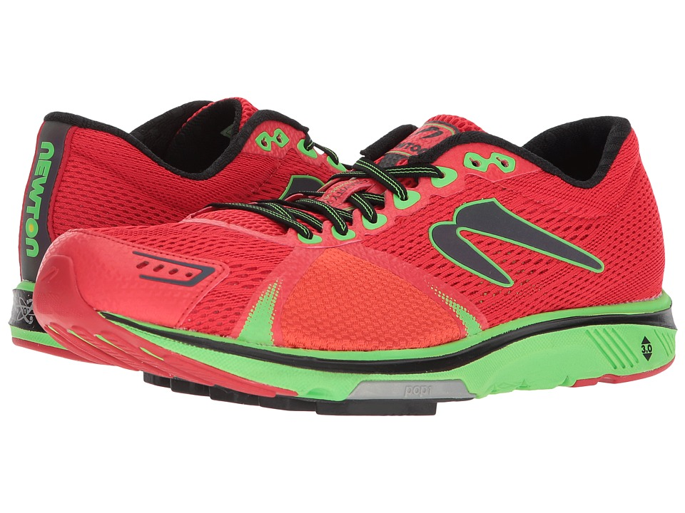 Newton Running - Gravity 7 (Red/Lime) Mens Running Shoes