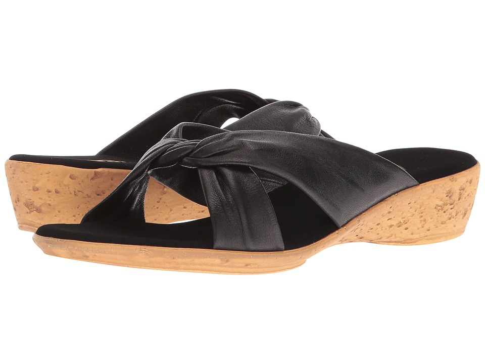 Onex Ana (Black Leather) Sandals