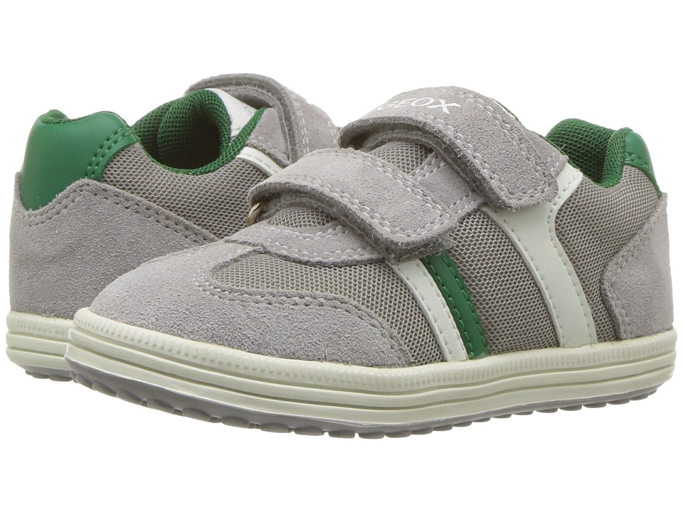 Geox Kids - Vita 31 (Toddler/Little Kid) (Grey/Green) Boys Shoes