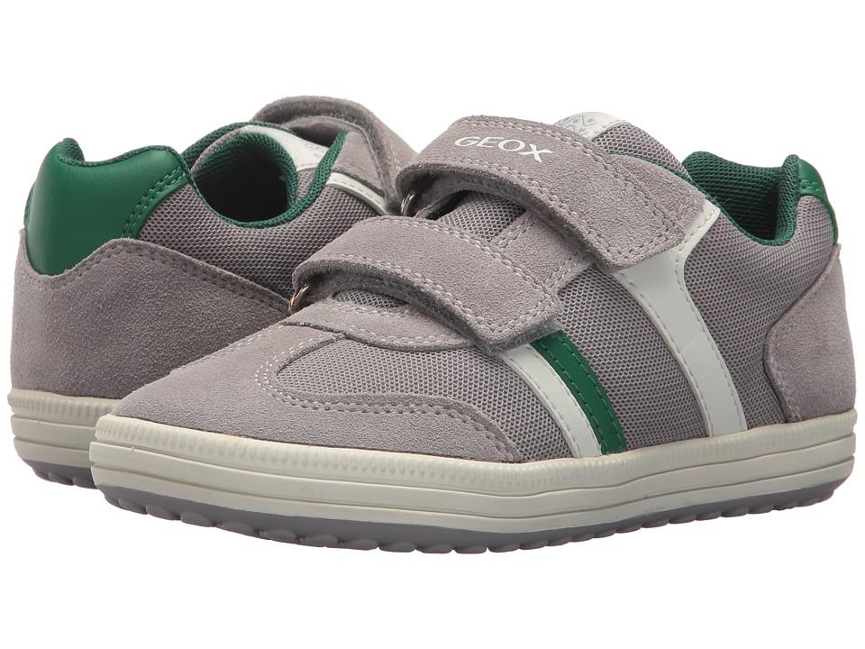 Geox Kids - Vita 31 (Little Kid/Big Kid) (Grey/Green) Boys Shoes