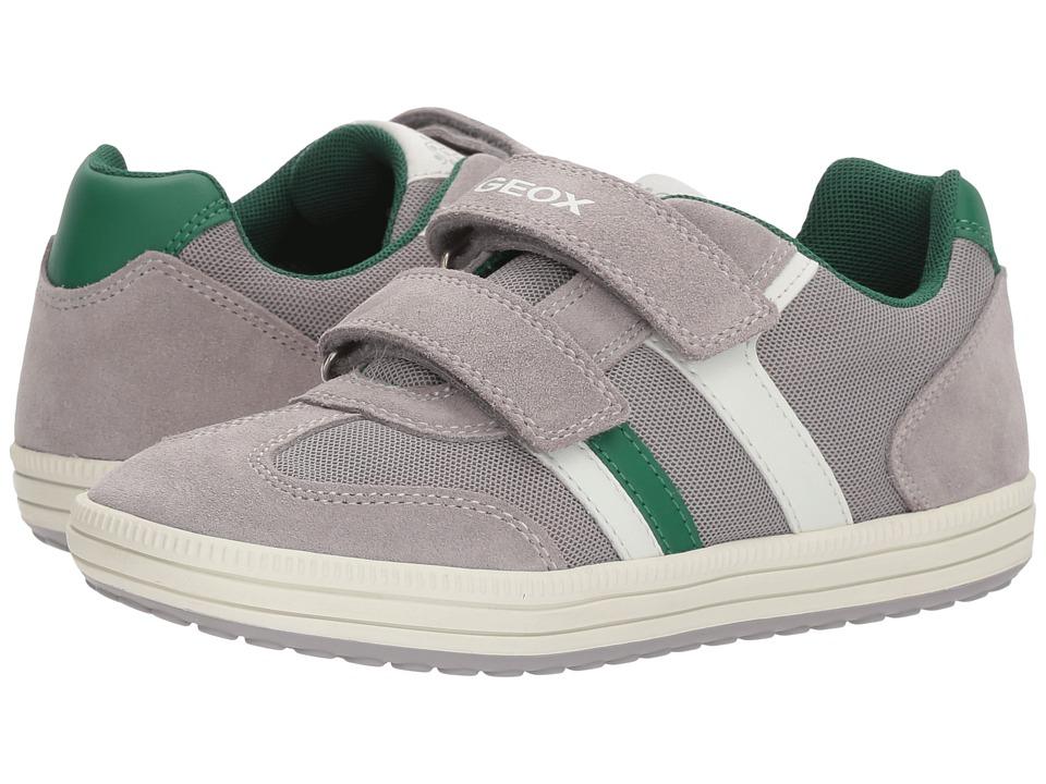 Geox Kids - Vita 31 (Big Kid) (Grey/Green) Boys Shoes