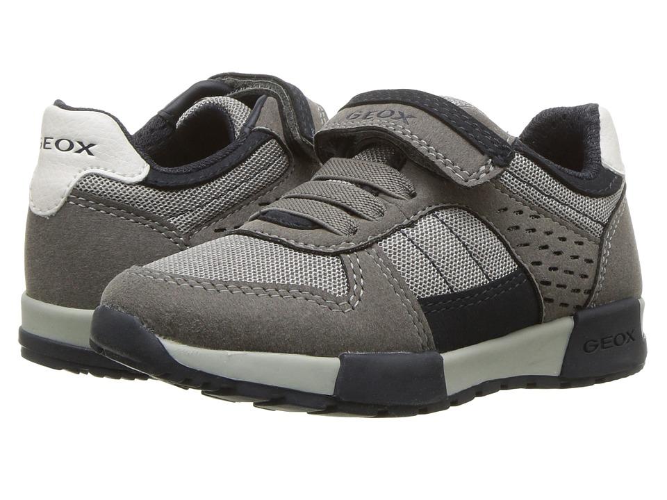 Geox Kids - Alfier 1 (Toddler/Little Kid) (Grey/Navy) Boys Shoes
