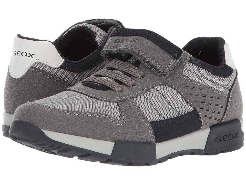 Geox Kids - Alfier 1 (Little Kid/Big Kid) (Grey/Navy) Boys Shoes