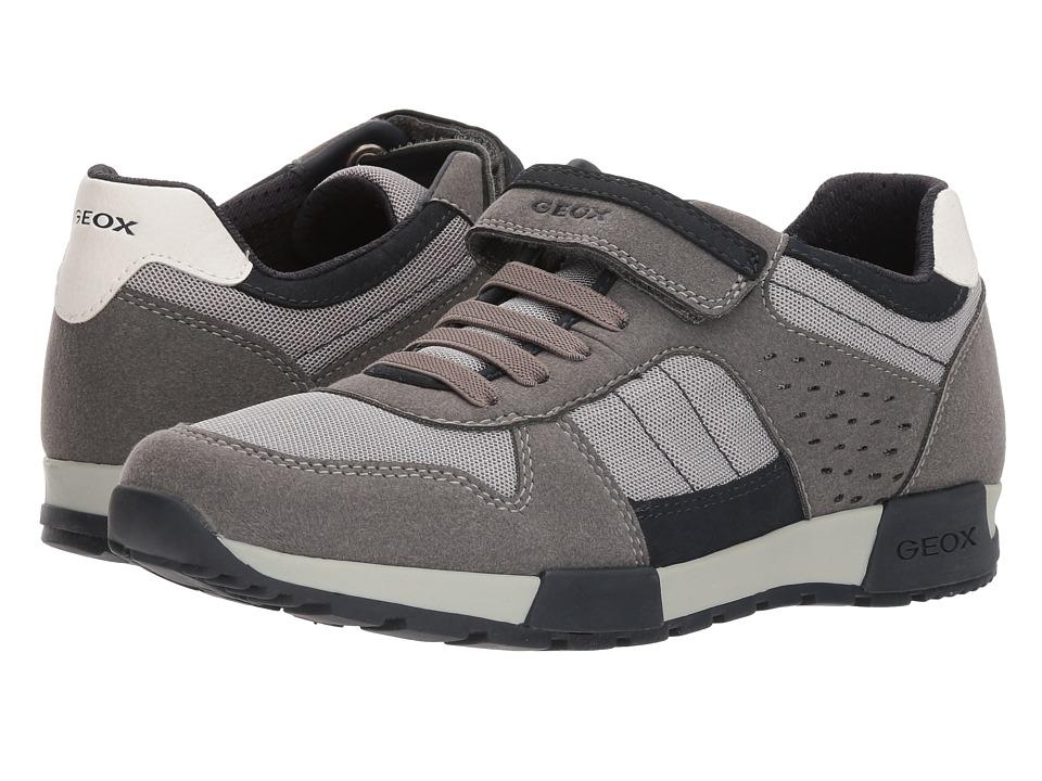Geox Kids - Alfier 1 (Big Kid) (Grey/Navy) Boys Shoes