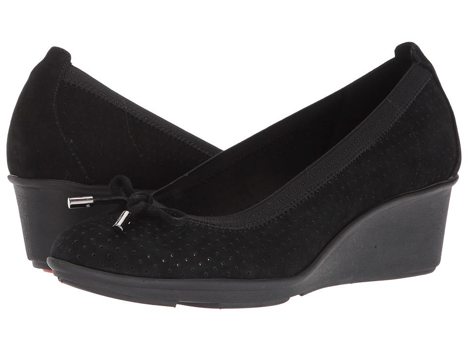 Anne Klein - Carissa (Black/Black Nubuck) Womens Shoes