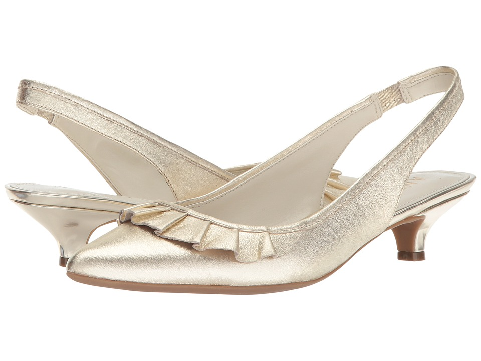 Anne Klein - Elanore (Gold Leather) Womens Shoes