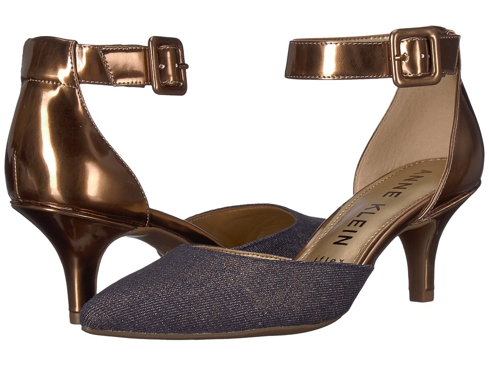 Anne Klein Fabulist (Dark Natural/Blue/Gold) High Heels