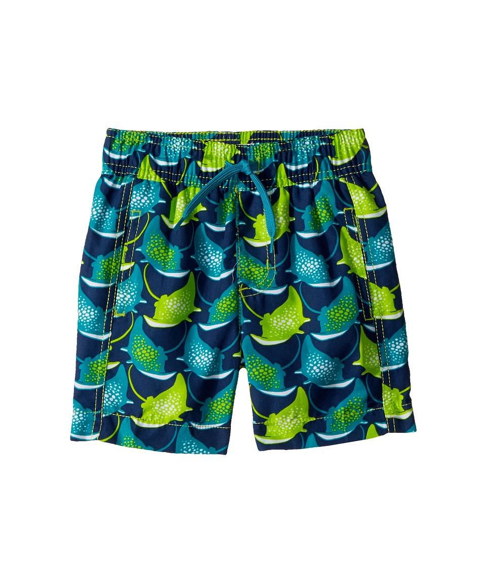 Hatley Kids Friendly Manta Rays Swim Trunks (Toddler/Little Kids/Big Kids) (Blue) Boy
