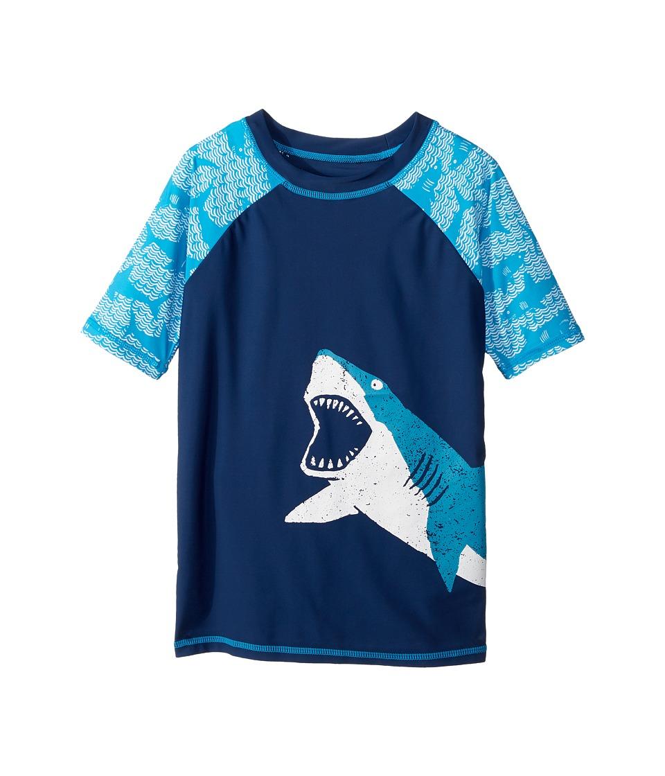 Hatley Kids Shark Alley Short Sleeve Rashguard (Toddler/Little Kids/Big Kids) (Blue) Boy