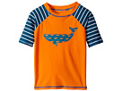 Hatley Kids Tiny Whales Short Sleeve Rashguard (Toddler/Little Kids/Big Kids)